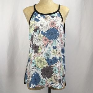 Spense Floral Tunic Tank Top Large NEW